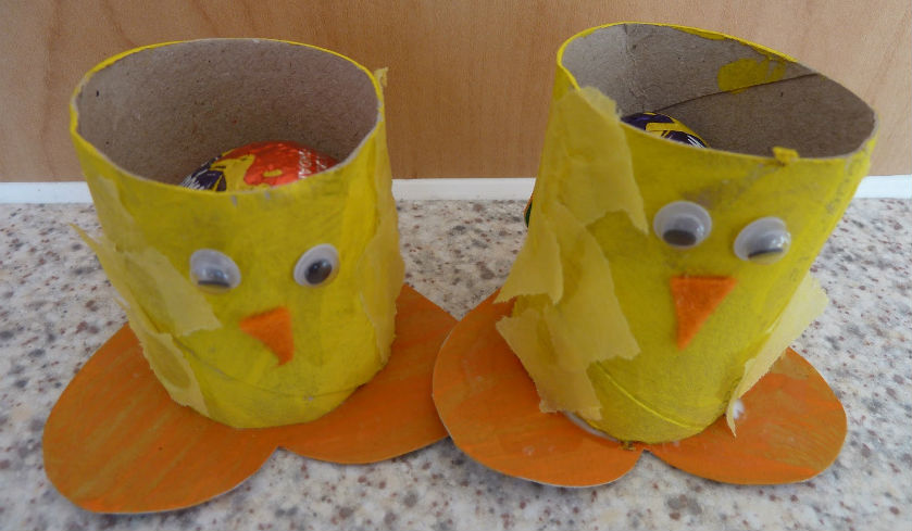 DIY Toilet Roll Chicks